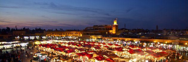 Marrakech et la place Jemaa el-Fna